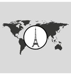 Traveling world paris monument design graphic vector