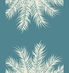 tropical design with vanilla palm leaves vector image