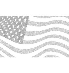 Usa dotted flag file vector