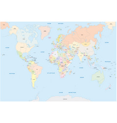 world map in french language vector image