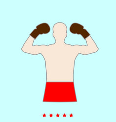 boxer set it is color icon vector image vector image