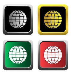 Globe icons set vector image vector image