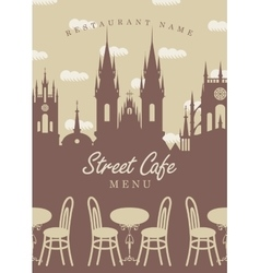 Menu for street cafe vector image vector image