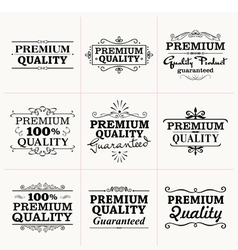 Premium Quality collection vector image