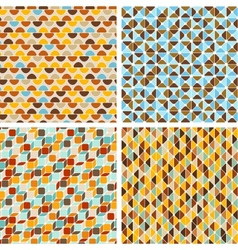 Seamless abstract geometric patterns set vector image vector image