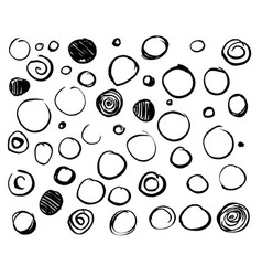 set scribble circles vector image