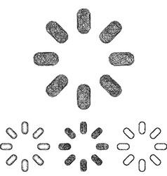 Spinner icon set - sketch line art vector
