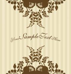 vintage flowers with stripes vector image vector image