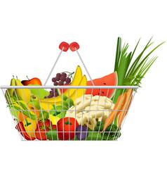 Diet basket vector