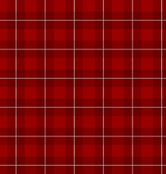 Lumberjack checkered square plaid red color vector image vector image