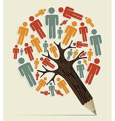 Man sign concept pencil tree vector image vector image