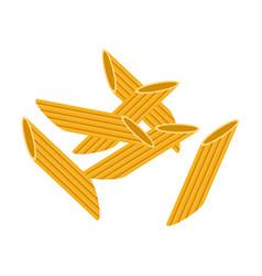penne pasta raw pasta macaroni cartoon vector image