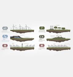 renewable energy in the examples vector image vector image