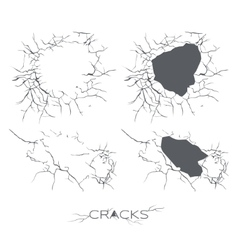 Set of the Cracks vector image