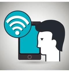 smartphone app silhouette vector image
