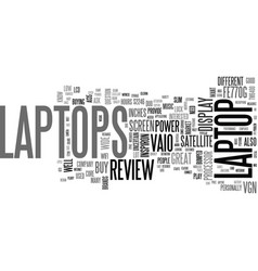 A review of popular laptops text word cloud vector