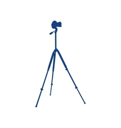 Camera on a tripod vector image