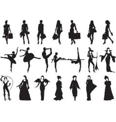 Female silhouettes vector