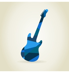 Guitar abstract vector image vector image