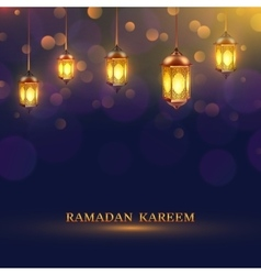 Ramadan Lights Poster vector image vector image