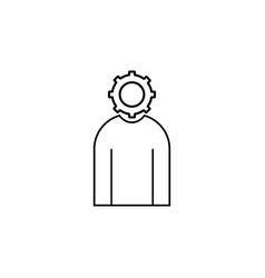 administrator simple linear icon vector image vector image