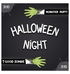 Halloween Night party vector image vector image