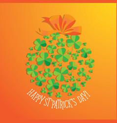 Happy saint patrick s day scatter shamrock card vector