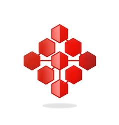 Polygon technology connection logo vector
