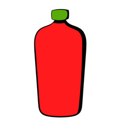 red cosmetic bottle icon icon cartoon vector image