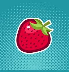 strawberry fruit icon design vector image vector image