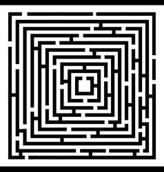 2d black maze vector