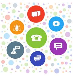 7 talk icons vector