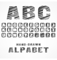 A B C caps alphabet vector image