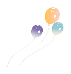 A view of ballons vector