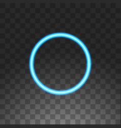 abstract circle blue neon frame vector image