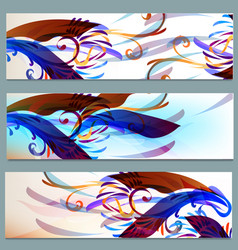 abstract colorful backgrounds set vector image