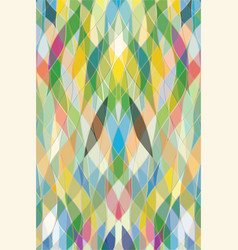 Abstract geometric shapes stained glass window vector