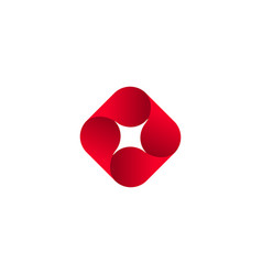 abstract red isolated logo icon design vector image