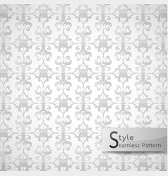 Abstract seamless pattern floral lattice white vector
