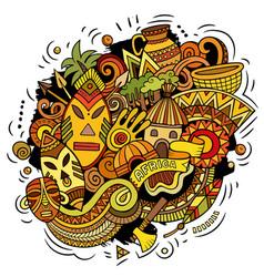 Africa hand drawn cartoon doodles funny design vector