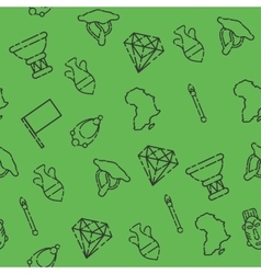 Africa set pattern vector