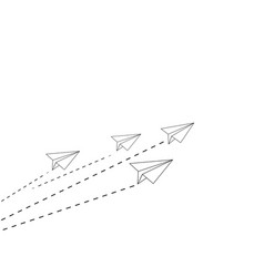 airplane group paper symbol on white vector image