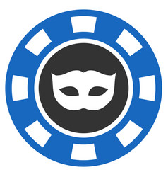 Anonymous casino chip flat icon vector