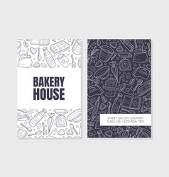 Bakery advertising with black vector