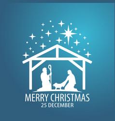 birth christ scene vector image