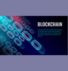 block chain background chain consists network vector image