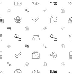 box icons pattern seamless white background vector image