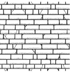 brick wall sketch pattern vector image