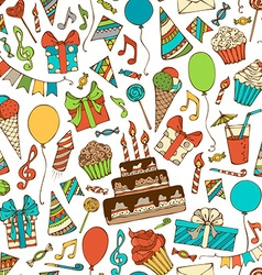 Bright birthday boundless background vector