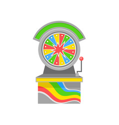 bright-colored wheel of fortune old-school game vector image